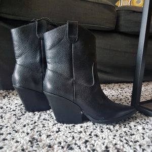 Black Western Style Boots